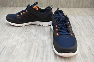 Skechers-Flex-Advantage-51251-Athletic-Shoes-Men-039-s-Size-10-5M-Navy-Orange