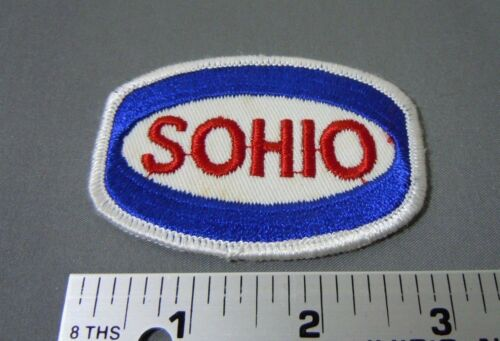 "SOHIO Embroidered Iron-On Uniform-Jacket Patch 3/"" x 2/"""
