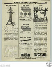 1919 PAPER AD Foot Power Wood Working Mortiser Pedal Lathe Cast Iron Goodall ?