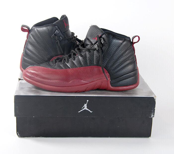 online store 9fb2d 17131 Air Jordan XII 12 Retro Retro Retro Black Varsity Red 136001 063 US Mens 11  Flu