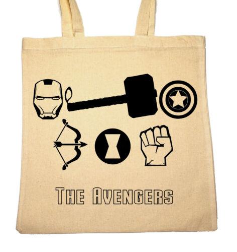 Tote Natural Cotton Shopper Bag Gym Shopping Beach Marvel/'s The Avengers Logo