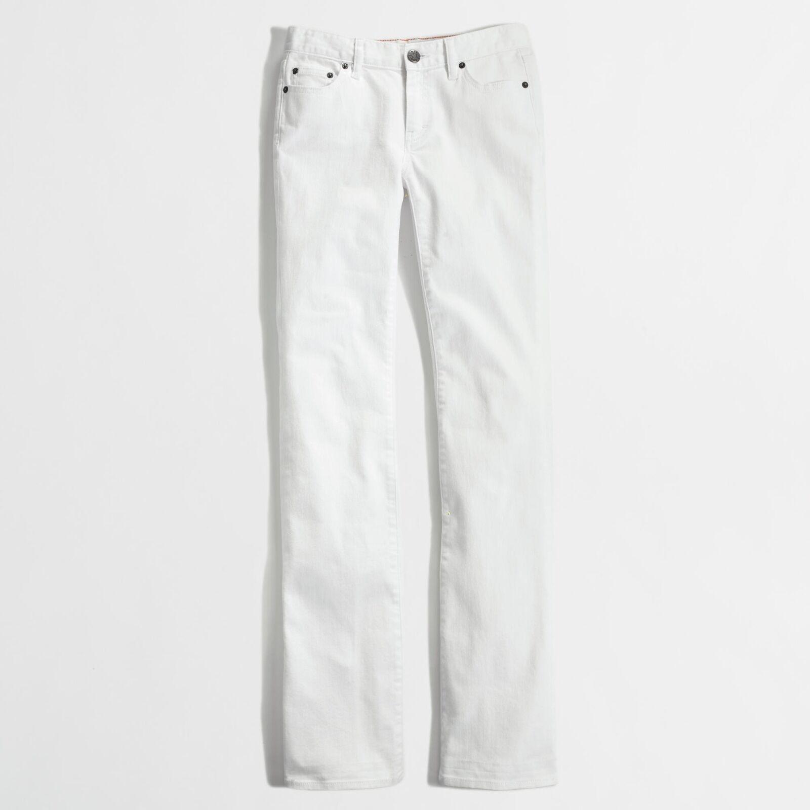 J.Crew Fabrik - Damen 35 (16) - Nwt - Einfarbig Weiß 32   Stiefelcut-Jeans