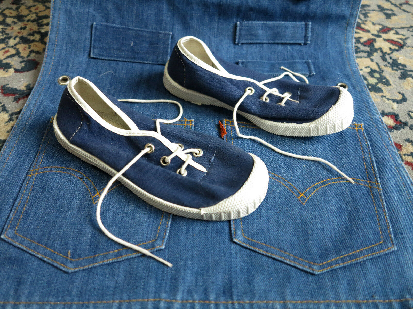 GERMINA Leinen Sport Intra Sneakers  DDR Turnschuhe 70er Sneakers Intra 70s TRUE VINTAGE blau 4de39e