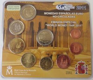 Espagne -  Espagne 2011 Coffret BU  World Money Fair (tirage 3 000) CPS