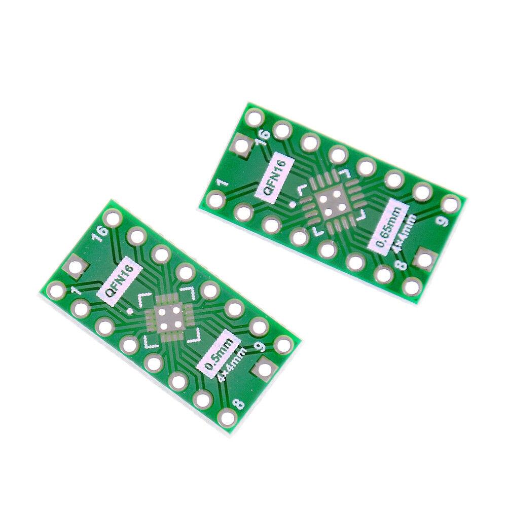 10 PCS QFN16 Pin Pitch 0.65mm 0.5mm to DIP16 Adapter PCB Board Converter HTC