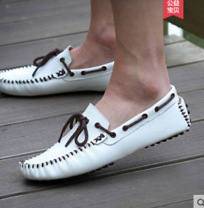 Men's Leather Casual shoes Driving Moccasins Loafers Slip On Comfort Retro F61