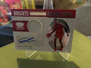 John Collins 2020-21 Crown Royale knights of the round table patch auto /99