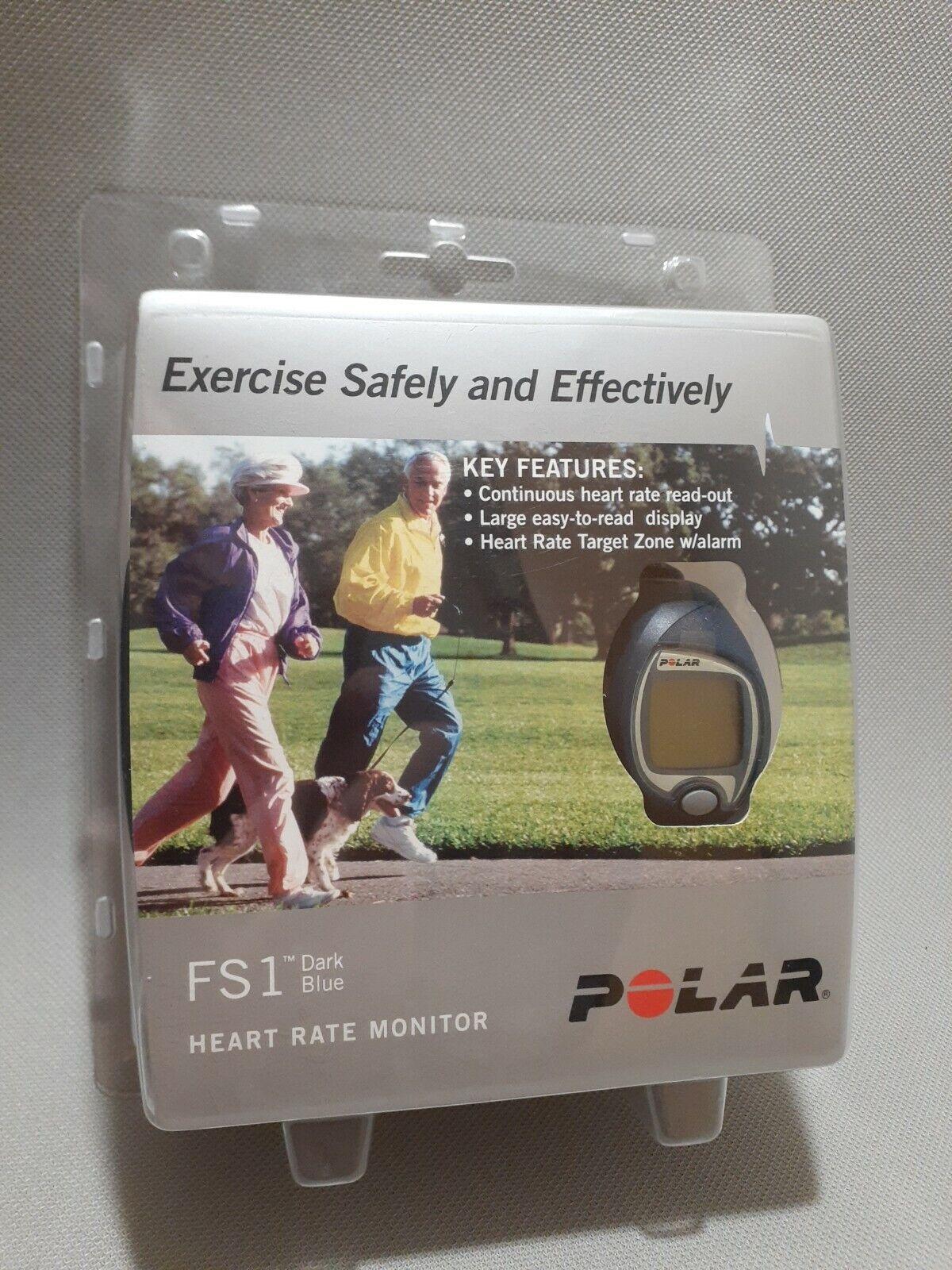 NEW Polar FS1 Wireless Heart Rate Monitor Dark Blue Watch  Calorie Tracker blue dark fs1 heart monitor new polar rate tracker wireless