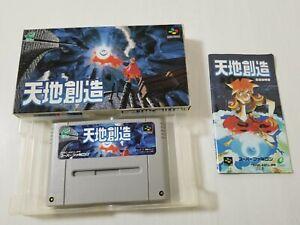 Nintendo Super Famicom Terranigma Tenchi Sozo Japan 0609A28