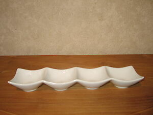 Rosenthal *new* Chips-dips Plat 4 Compartiments 33x8cm Dish Uiufldcv-07220030-879338694