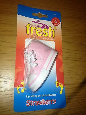 Car, Home, Work & Caravan Fresh Strawberry Hanging Air Freshener - Pink Converse