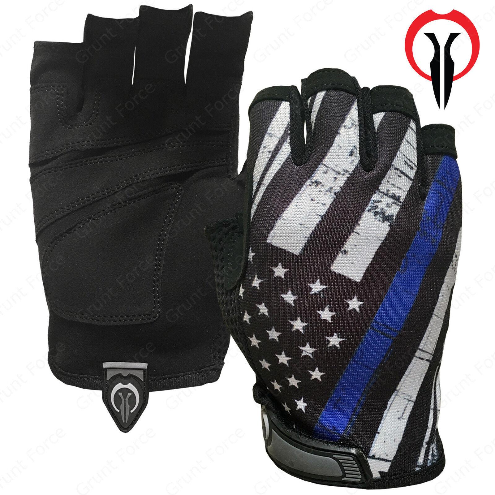 Industrious Handwear Thin Blue Line Half Finger Gloves - TBL Fingerless Gloves