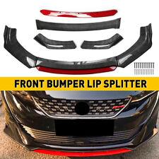 Glossy Black Car Front Bumper Lip Spoiler Rear Side Skirt Splitter Universal Kit Fits Toyota Yaris