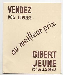 Buvard - Librairie Gibert Jeune Grands Boulevards. Impression Marron (réf. 67/7) 1fvaq1xu-07230725-905107903