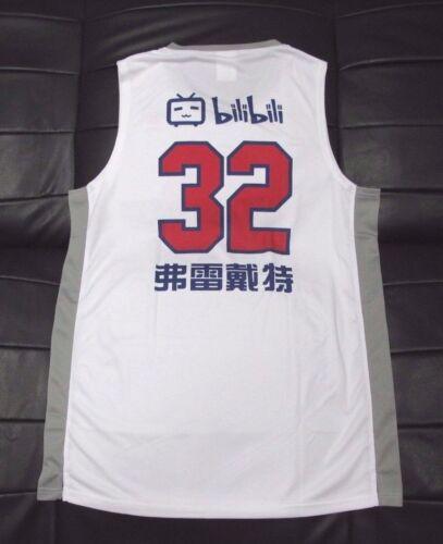 Jimmer Fredette CBA Shanghai Sharks Home White shirt jersey 2016-2017