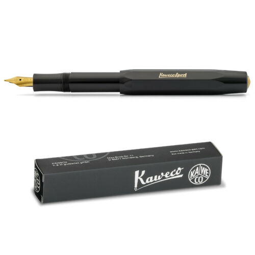 Extra Large Kaweco Sport Classic Stylo Plume noir BB