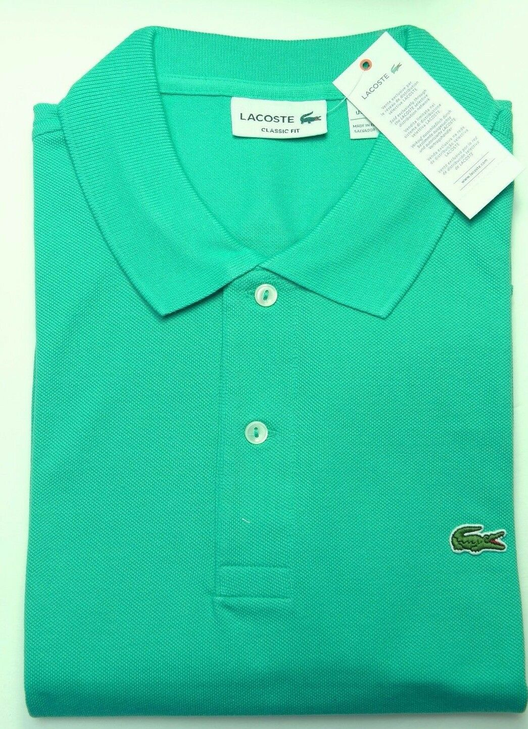 SALE Lacoste L1212 Men's Classic Fit Olivine Cotton Polo Shirt NWT 2XL