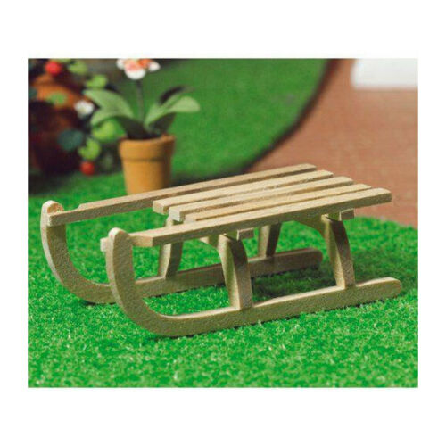 Dolls House 6187 Miniature Wooden Sled 1:12 for doll house NEW #