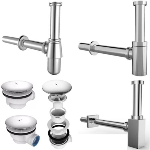 Sifon Siphon Ablaufgarnitur Pop Up Abfluss Waschbecken Waschtisch Duschtasse NEU
