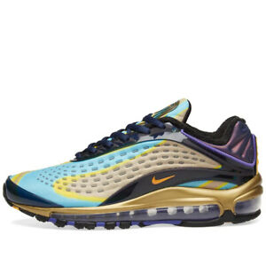 NWT-Nike-Size-10-Air-Max-Deluxe-Navy-Orange-Violet-amp-Black