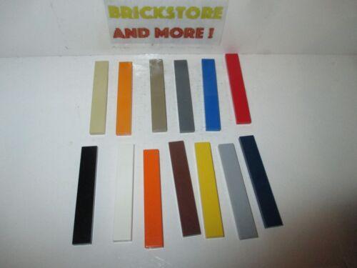 Choose Color and Quantity x2 x4 x8 x16 Tile Plate Plaque Lisse 1x6 6636 Lego