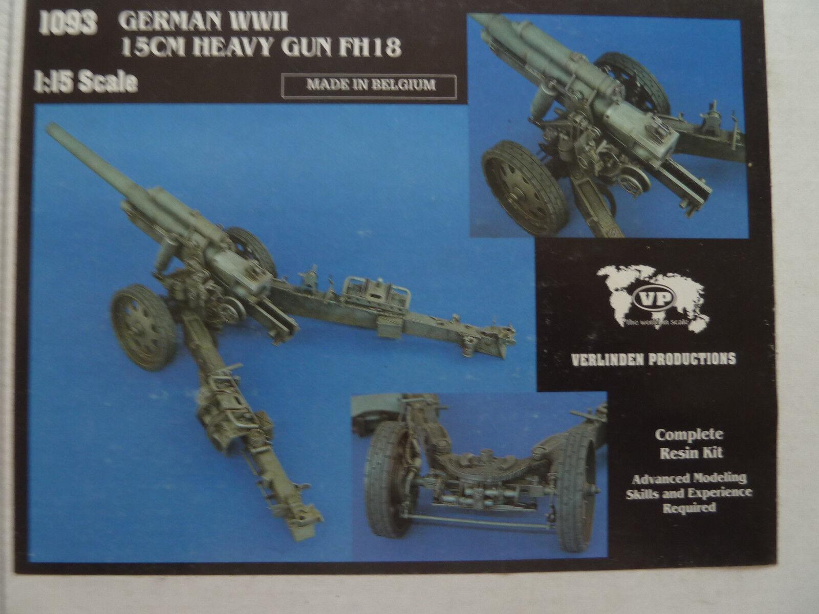 Verlinden Deutsche FH18 Schwere 15 cm Feldhaubitze 1 15 WWII 1093 - sehr selten