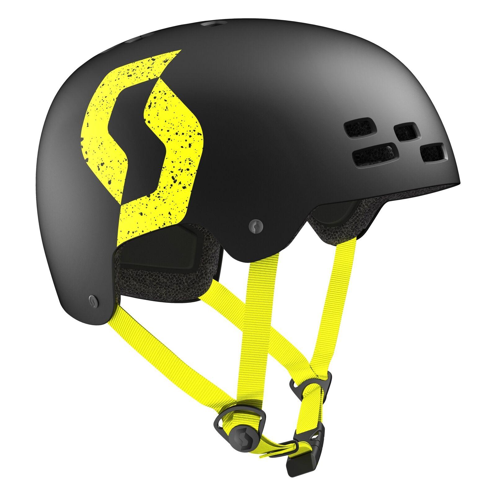 Scott Scott Scott Jibe Dirt Helm Schale schwarz gelb 2019 dc695f