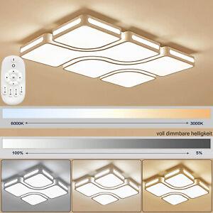 Modern Dimmbar Deckenlampe Deckenleuchte 36W-128W LED für Wohnzimmer Diele IP44