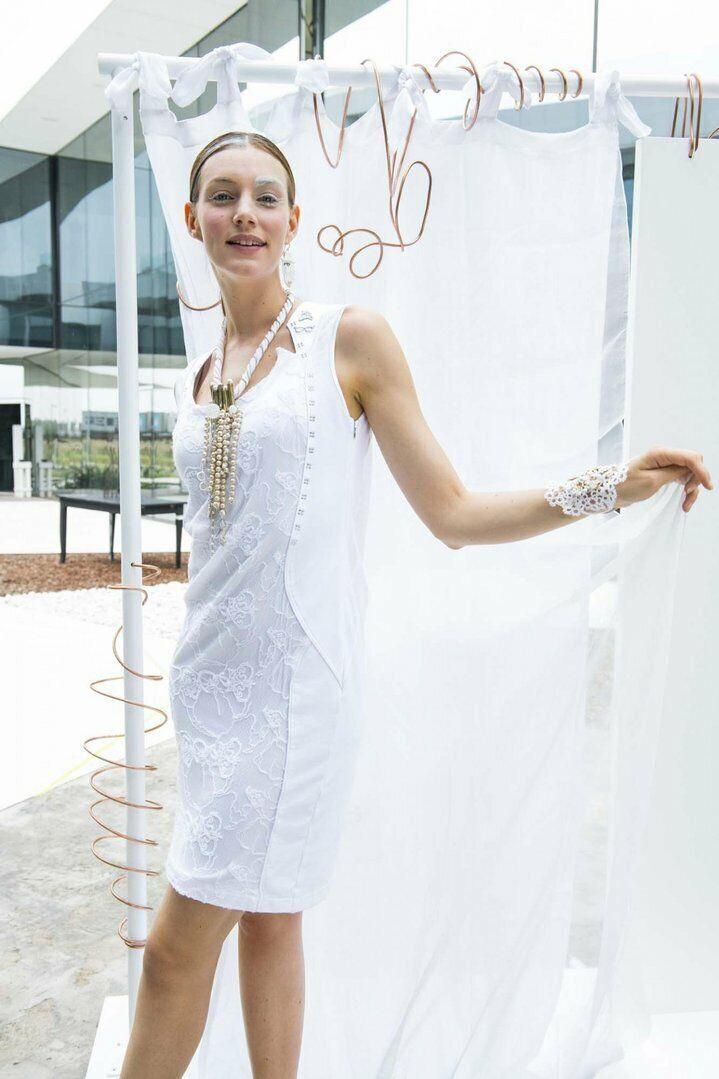 ELISA CAVALETTI Kleid Bianco Gr. L, XL Sommer 2019