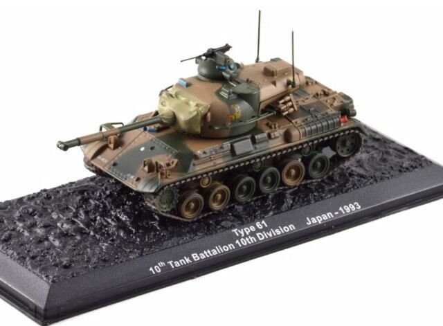 SDF Type 61 10th Tank Battalion 10th Division Japan 1993 New 1 72 Scale