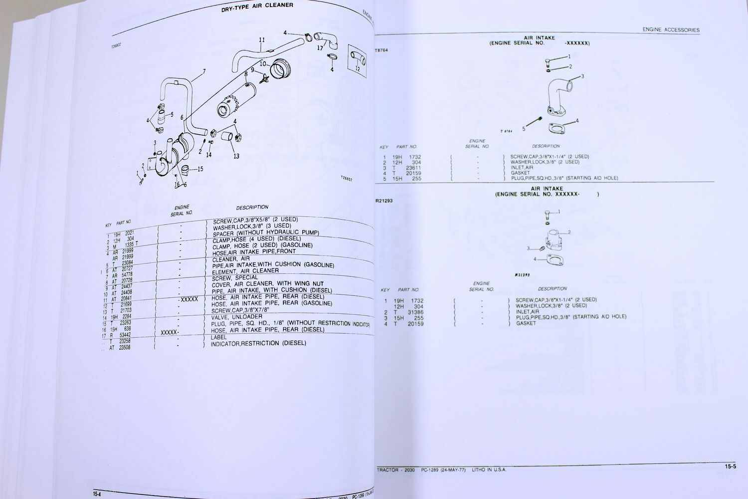 John Deere 2030 Tractor Parts Manual Catalog Assembly Exploded Views Case 580se Wiring Diagram Numbers Ebay