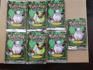 7-empty-pokemon-Jungle-Set-booster-packs-Wizards-of-the-coast-1999-WOTC