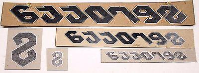 2x Genuine NOS Serotta 3M Vinyl Legend Bike Frame Decals OEM Multiple Colors