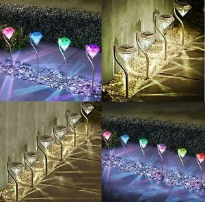 NEW-DIAMOND-GARDEN-STAKE-LIGHTS-STAINLESS-STEEL-COLOUR-CHANGING-SOLAR-LED-4-6