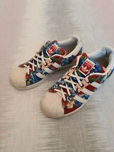 Adidas-Superstars-Foral-Womens-Trainers-SZ-Uk-6-5-Rare-Limited-Edition-C133