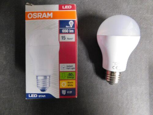 10 St Osram LED Star Classic A 50 ; 9 W = 50 W ; E 27 ; Warm Weiß ; 650 Lumen