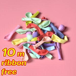 10-034-Pouces-Macaron-Candy-Pastel-Latex-Ballon-Fete-de-Mariage-Decoration-Anniversaire-Decoration