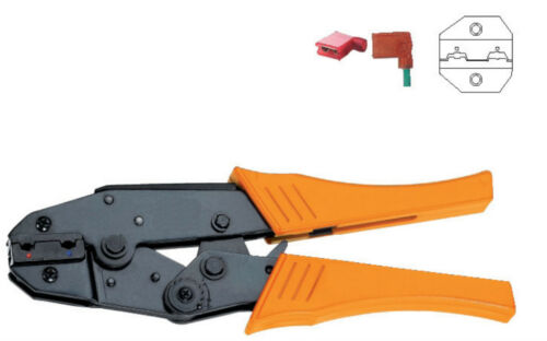 0.5-2.5mm2 AWG20-14 Flag F Type Female Receptacles Insulated Terminals Crimper