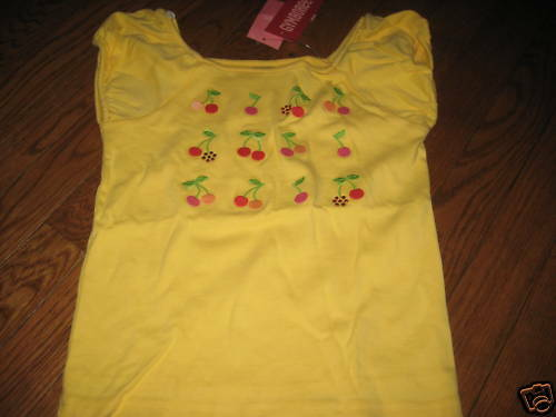 NWT Gymboree CHERRY BABY Yellow Shirt,Top Girls sz 7