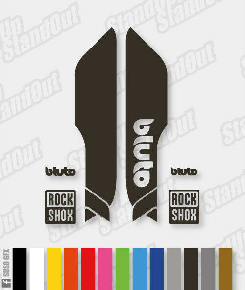 RockShox BLUTO 2017 2018 Style Stickers Decals 3 Colour Designer Pack