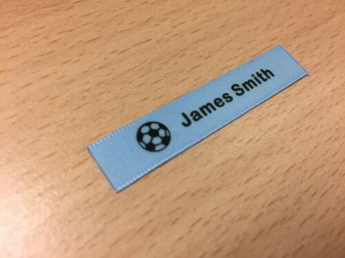 LIGHT BLUE Sew In//On Personalised School Name Labels Name Garment Tags Labels