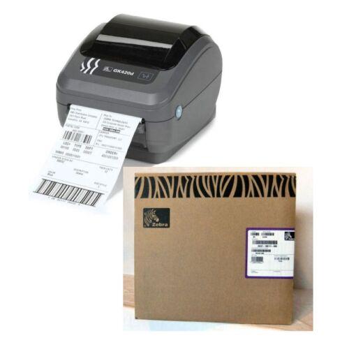 Zebra GK420d Direct Thermal Shipping Label Printer Ethernet USB 90 Day Warranty
