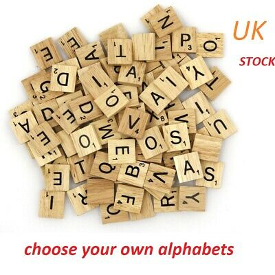 Scrabble Tiles Letters Wooden Numbers Choose Your Own Letter Pieces Crafts Wood