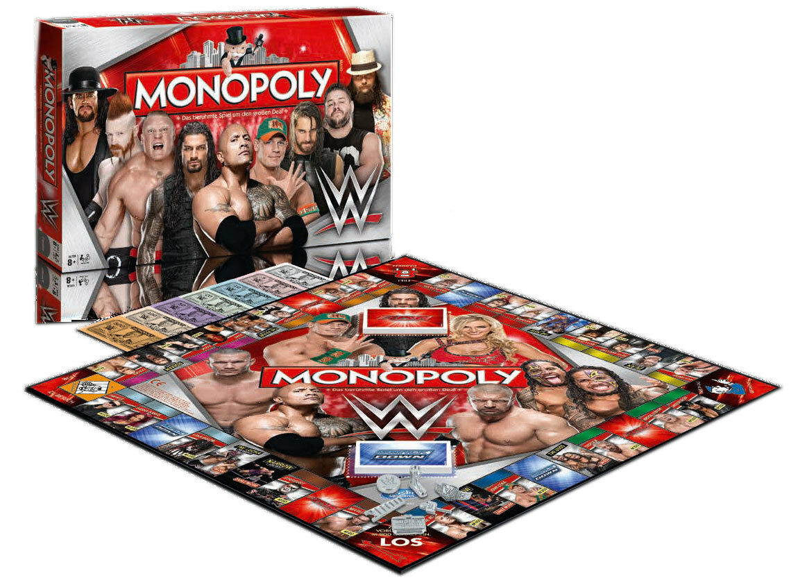 WWE Wrestling Board Game Monopoly German Version Winning Moves Games Table
