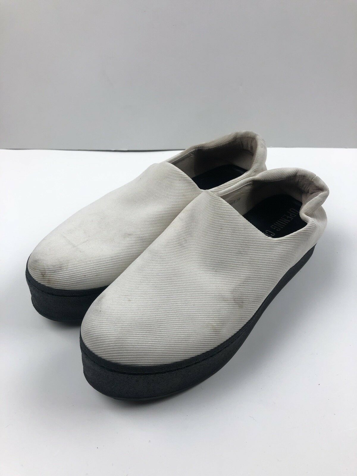 Opening Ceremony Womens shoes Size 37 37 37 Platform Black White Slip On f0a7f7