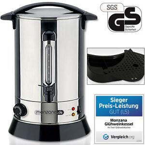 monzana® Glühweinkessel 6,8L Glühweinkocher Edelstahl Thermostat Wasserkocher