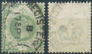 Gran-Bretagna-MER-n-97-timbrato-Regina-Vittoria-1-SH-One-SHILLING
