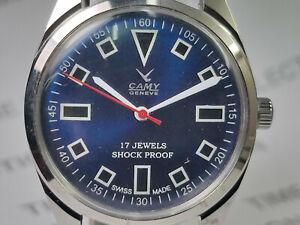 Vintage-Camy-Mechanical-Handwinding-Movement-Analog-Dial-Mens-Wrist-Watch-OG174