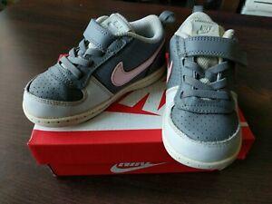 Details zu Nike Kinder Sneaker * Gr.25 8c * Court Borough Low * Mädchenschuhe * grau rosa