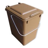 Neue Futtertonne Plastikeimer Tierfutter Box Behälter Mit Deckel 10 Liter Braun.